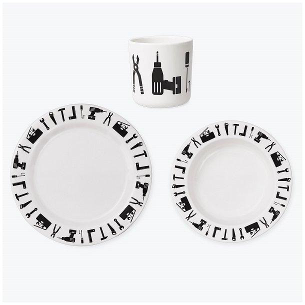 Godt Melamin service spisesæt med værktøj fra Design Letters - Design YW42